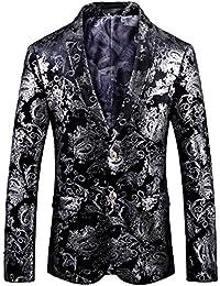 96a08ab9a Men's Casual Glitter Suit Stylish Slim Fit Blazer Jacket
