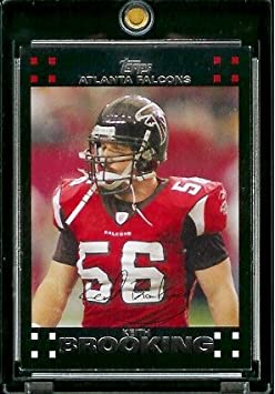2007 Topps Football # 267 Keith Brooking - Atlanta Falcons - NFL Trading Cards