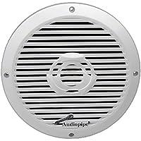 Audiopipe 8 2-Way Coaxial Marine Speaker 350W White