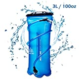 Triwonder 1.5-2-3L BPA Free Hydration Bladder Water Reservoir for Bicycling Hiking Camping Backpack