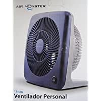 Air Monster 7-Inch 2-Speed Personal Box Fan (BLUE)