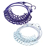 Portable Travel Elastic Clothesline Kit, Adjustable Windproof Laundry Rope with 12pcs Clothespins for Outdoor and Indoor Use, 2 Pack, Purple/White