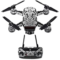 Skin for DJI Spark Mini Drone Combo - Floral Retro| MightySkins Protective, Durable, and Unique Vinyl Decal wrap cover | Easy To Apply, Remove, and Change Styles | Made in the USA