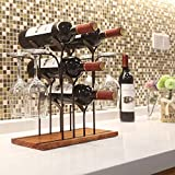 Tabletop Wood Wine Holder, Countertop Wine