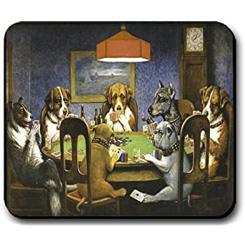 Dogs playing poker mouse pad texas laws on online gambling