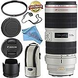 Canon EF 70-200mm f/2.8L IS II USM Lens 2751B002 + 77mm UV Filter + Fibercloth + Lens Capkeeper Bundle