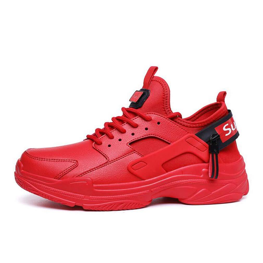 Hy Herrenschuhe Mikrofaser-Frühling Herbst Herbst Herbst Student Casual Turnschuhe Basketball Schuhe Wearable Training schuhe Reiseschuhe,rot,44 708a97