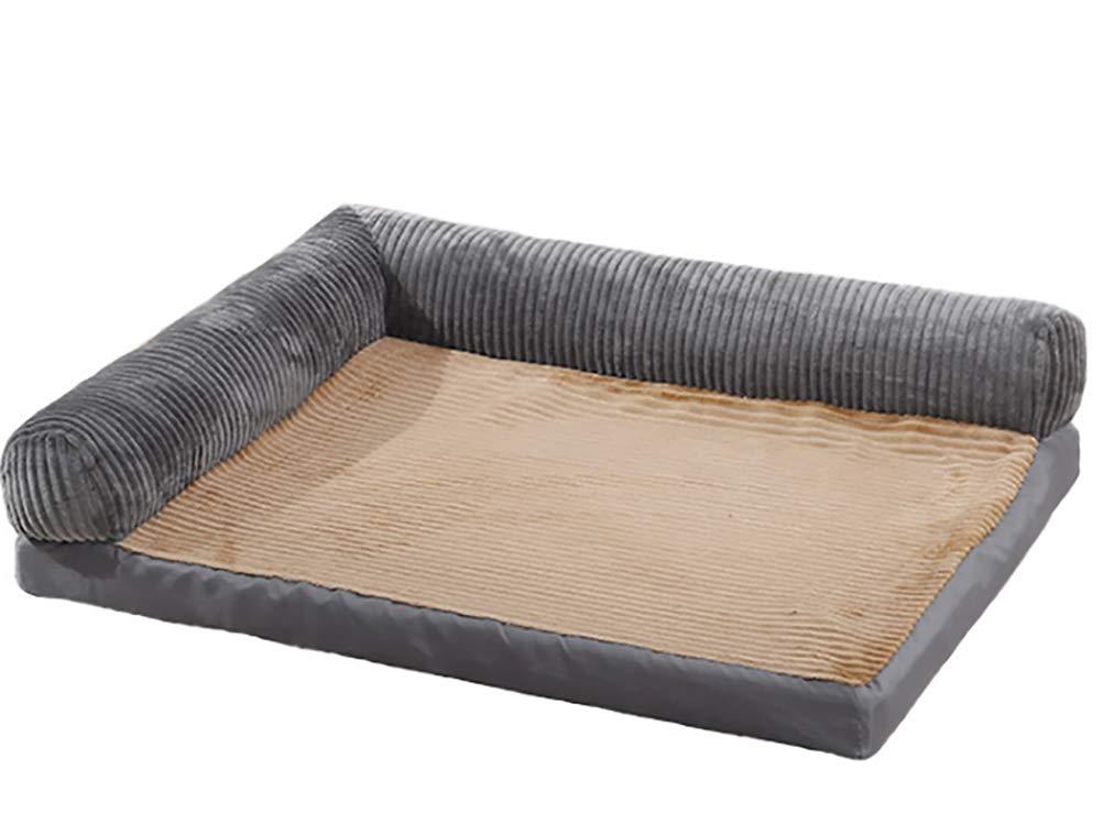 Pet Nest Kennel Dog Bed Dog Mat golden Hair Large Dog Washable,Silver