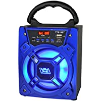 6 200 Watts Portable Multimedia Speaker & Changing Colored Light - Blue