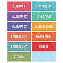 Moving Labels Pack, Multi-Room Color Coded LV-MOVE1RT