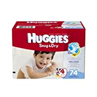 Huggies Snug and Dry Diapers Big Pack, Size 4, 74 Count