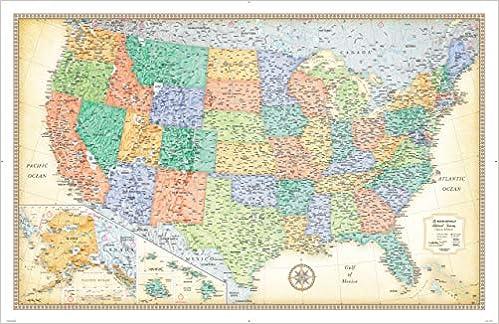 Rand Mcnally Us Map Rand McNally Classic United States Wall Map: Rand McNally