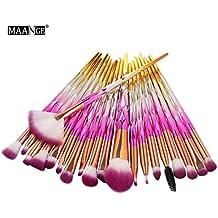 Makeup Brushes, 20 Pcs Fantasy Set Foundation Powder Eyeshadow Cosmetics Blending Tool Kits (D)