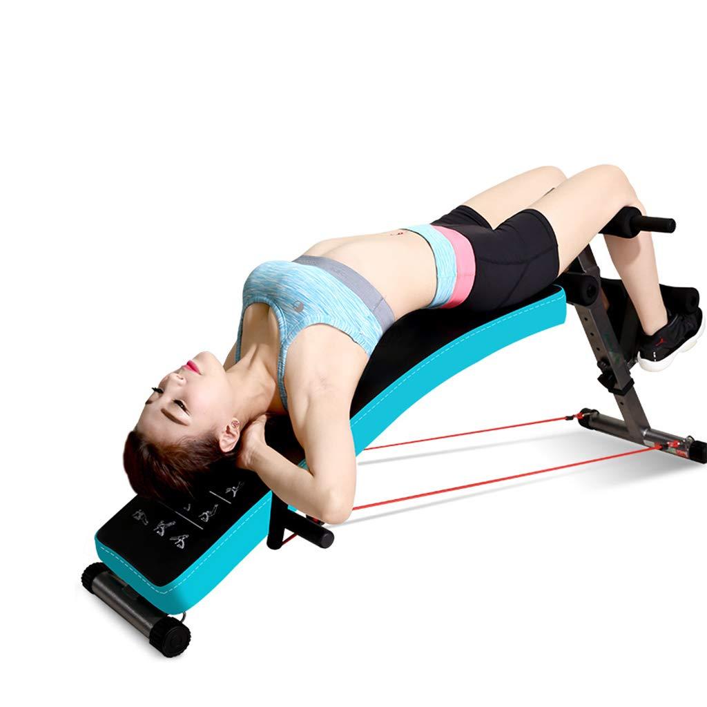 Unbekannt Bauchtrainer Einstellbare Hantelbank   Bauchmuskelbrett für weibliche Frauen Gewichtsverlust multifunktionaler Bauchtrainer