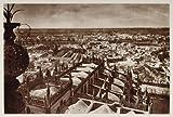 1928 Panoramic View Panorama Seville Spain