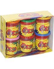 Wow Play Dough Set, 6 Buckets - 125 gm