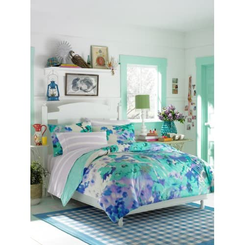 Amazon.com: Teen Vogue Comforter Set, Twin, Watercolor Garden