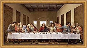 Amazon.com: The Last Supper by Leonardo Da Vinci Framed ...
