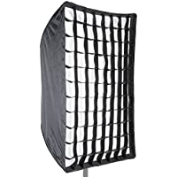 Neewer Photo Studio 24' x 36'/60 x 90cm Rectangle Umbrella Type Speedlite Softbox with Grid for Portraits,Product Photography and Video Shooting