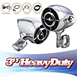 LEXIN Waterproof Heavy Aluminum Motorcycle Audio Systems, Stereo Amplifier, Motorcycle bluetooth Speaker, Hi-fi Sound Mp3/wma Bluetooth Usb/aux Phone Charge Fits 7/8'' to 1'' Handlebar