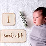 BeimYcW Home Decoration,Newborn Baby Birth Day Week Month Year Wooden Commemorative Card Photograph Prop
