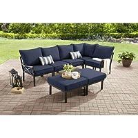 Mainstays Sandhill 7-Piece Outdoor Sofa Sectional Set