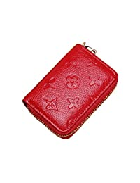 Women RFID Blocking Credit Card Holder Wallet Men Leather Multi Zipper Purse