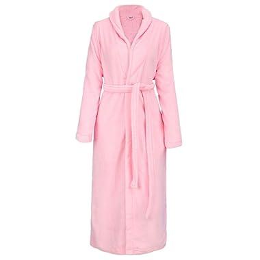 Simplicity Men/Women Luxurious Plush Kimono Bathrobe with Side Pockets