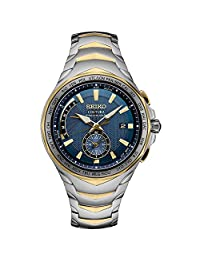 Seiko SSG020 Mens Silver & Gold Coutura Radio Sync Solar Watch