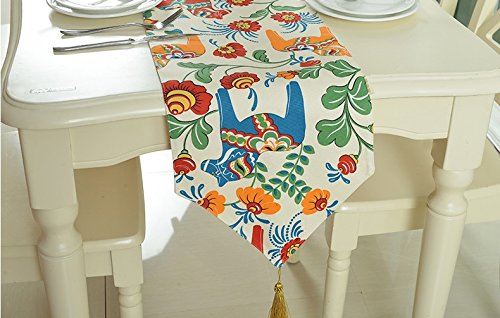 30180cm YOTA HOME Table Runners European Luxury Embroidery Table Flag Simple Fashionable Tablecloth Kitchen Table And Table Cloth Printing Table Table Flag Table Table Flag (Size   30  180cm)
