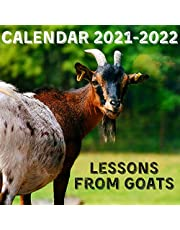 Lessons From Goats Calendar 2021-2022: April 2021 - June 2022 Square Photo Book Monthly Planner Mini Calendar With Inspirational Quotes