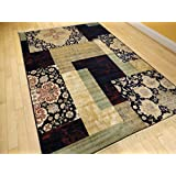 Large Luxury Silk 8x12 Contemporary Rugs For Living Room Navy Beige Cream Green Beige Rugs Clearance Dining Room Rugs NAVY