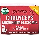 Four Sigmatic Cordyceps Mushroom Elixir - USDA Organic Cordyceps Mushroom Powder - Revive, Energize - Vegan, Paleo - 20 Count
