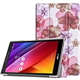 ASUS ZenPad 8.0 Z380C Case - MoKo Ultra Slim Lightweight Smart-shell Stand Cover Case With Auto Wake / Sleep for ASUS ZenPad Z380C 8.0 inch Version Tablet, Floral PURPLE