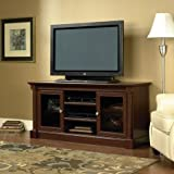 Sauder Palladia Entertainment Credenza for TVs up to 59, Cherry by Supernon