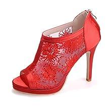 Monie Women's Sequins Embroidery Prom Dress Shoes Stiletto Bridal Bridesmaid Sandals