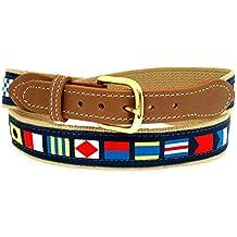 Nautical Belts, Code Flags on Khaki Webbing