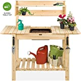 Best Choice Products Outdoor Wood Garden Potting