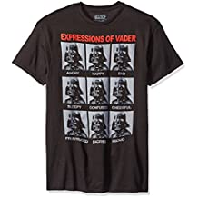 Star Wars Darth Vader Expressions Mens Black T-Shirt