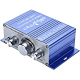 HY Audio Amplifier, 2ch Hi-fi Stereo Audio Output Power Amplifiers, Blue