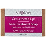 Organic ACNE TREATMENT Soap - by Vi-Tae - 100% Pure, All Natural, Aromatherapy Luxury Herbal Bar Soap - 4oz