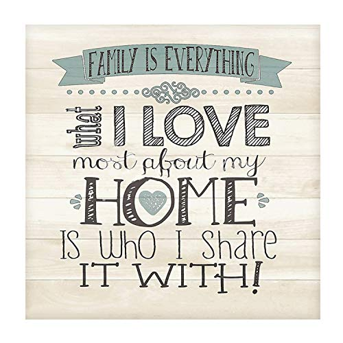 MXJSUA Kit de Pintura de Diamante 5D por numero, Suministros de Imagen de Taladro Completo, Arte, artesania, Pegatina de Pared para el hogar, decoracion, I Love Home, 35x35cm