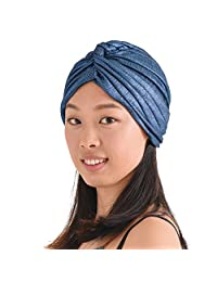 CHARM Casualbox Metallic Twist Turban Hat Headwrap Festival Boho Fashion Chemo