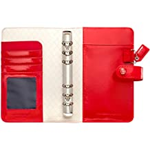 """Color Crush Faux Leather Personal Planner Binder 5.25""""X8""""-Patent Red"""