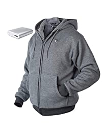 Venture Heat Heated Hoodie with Battery 12 Hour - The Transit Polar Fleece Heated Hoodie for Men, Heated Sweater for Women