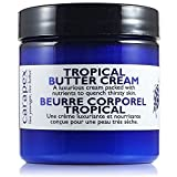 Carapex Tropical Butter Cream, Non Greasy Hand Cream, Body Cream For Cracked Hands, Super Dry Skin with Natural Shea Butter, Cocoa Butter, Vitamin E, Green Tea Extract, Fragrance Free, Paraben Free, 4oz 120ml