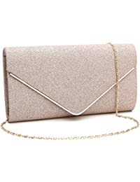 5b32a61c8a5 Womens Shining Envelope Clutch Purses Evening Bag Handbags For Wedding and  Party
