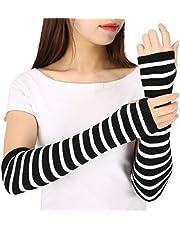 HDE Women Fingerless Long Gloves Thumbhole Arm Warmer Sleeve Elbow Length