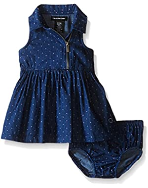 Baby Girls' Polka Dot Chambray Dress and Panty