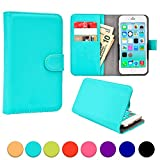 BlackBerry Z3 / Z30 / Leap phone case, COOPER SLIDER Mobile Cell Phone Wallet Protective Case Cover Casing with Open Camera & Credit Card Holder for BlackBerry Z3 / Z30 / Leap (Aquamarine)